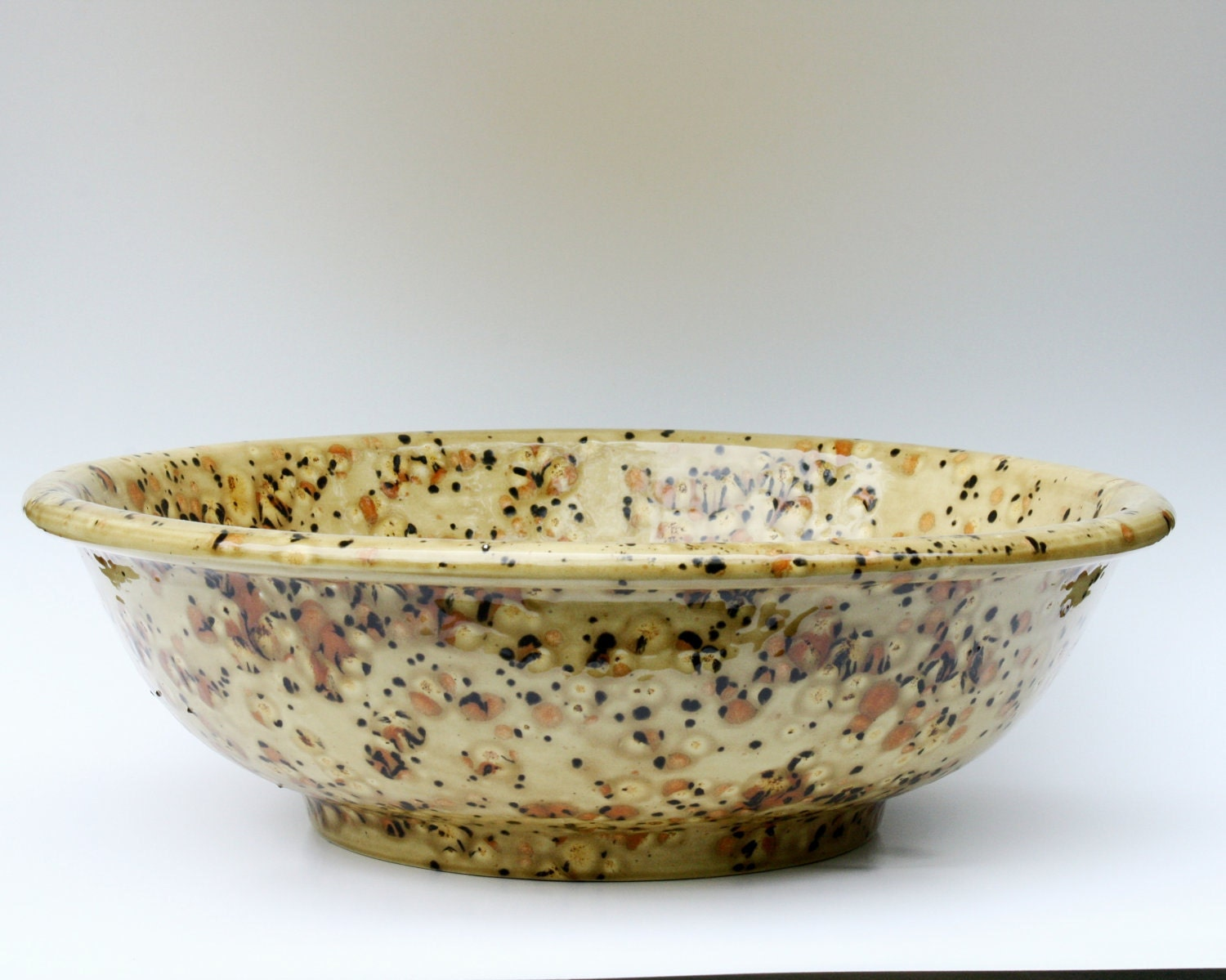 Large Serving Bowl in Golden Brown and Rust - miasorellagifts