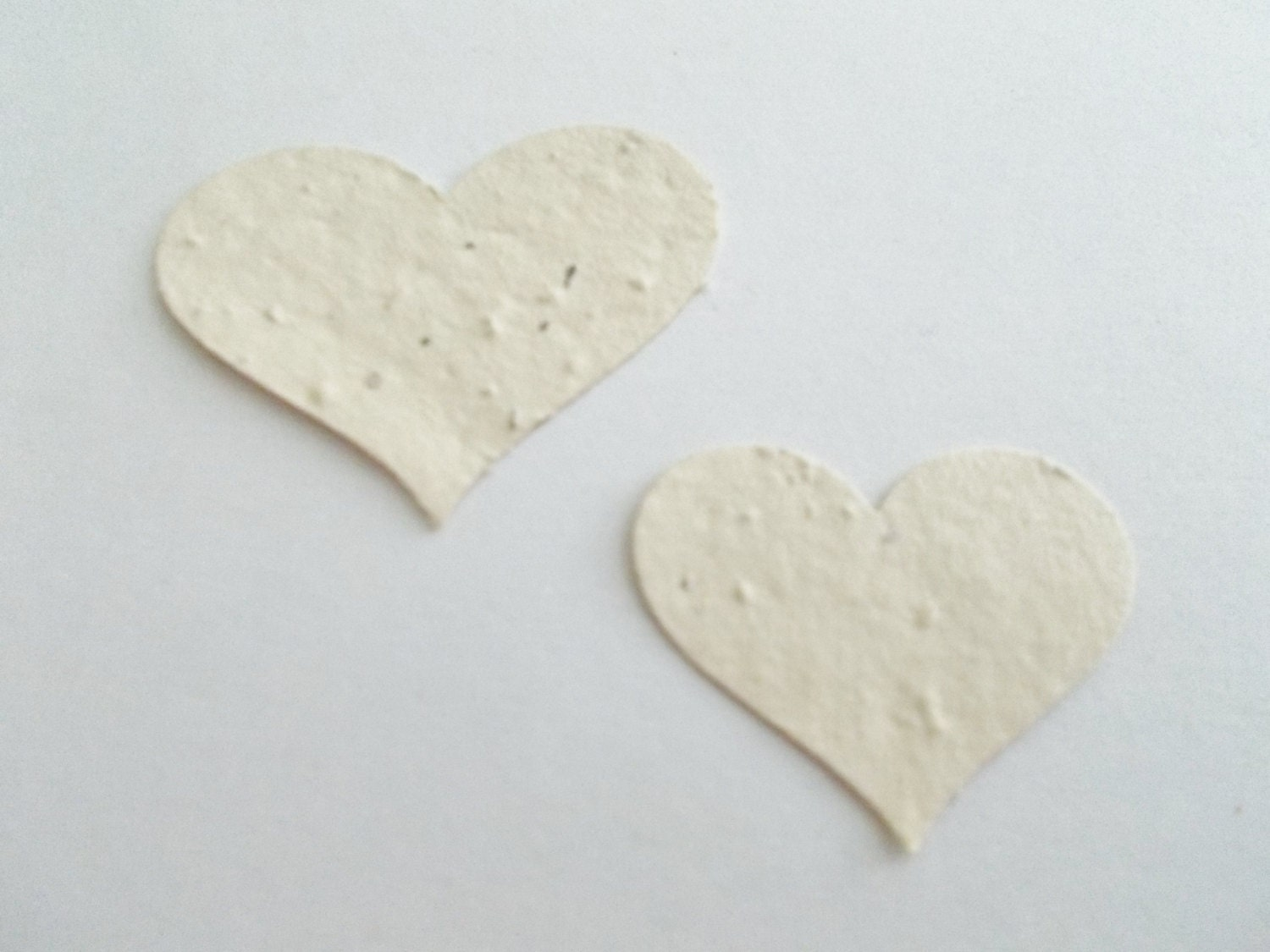 50 Cream Heart Confetti Wedding, Shower and Party Decoration - Eco Friendly Plantable Paper with Wildflowers
