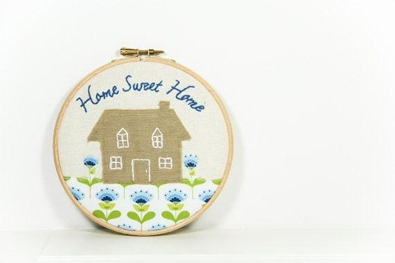 Embroidery New Home Wall Art - EggbertAndTurkey