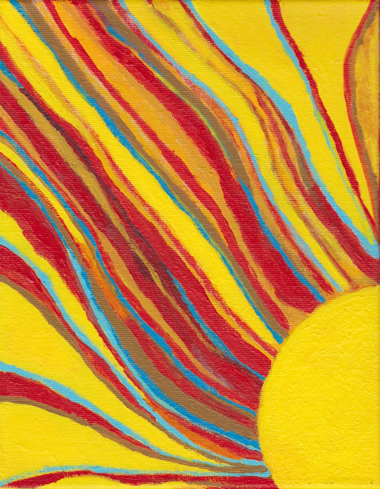 Abstract Sun Painting Art Wall Decor -  Ablaze - Betty Refour