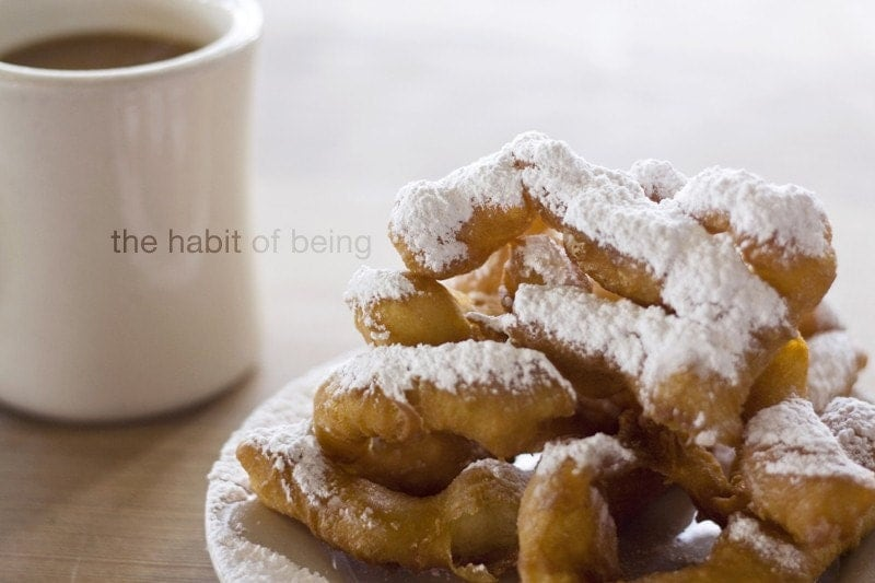beignets and coffee - 5x7 - habitofbeing