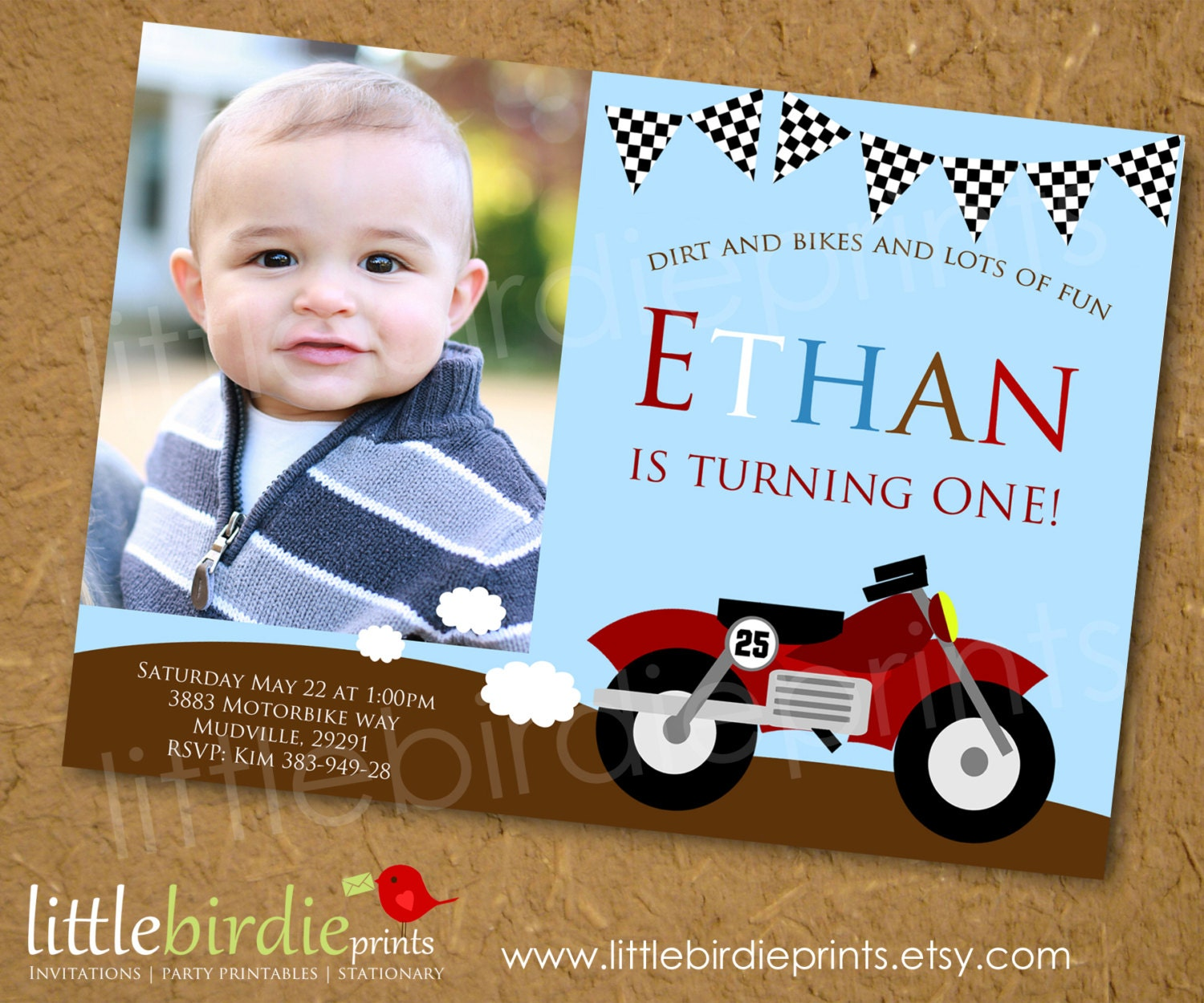 Cafe Racer Motorbike Party Birthday Party Ideas – Motorcycle Party Invitations