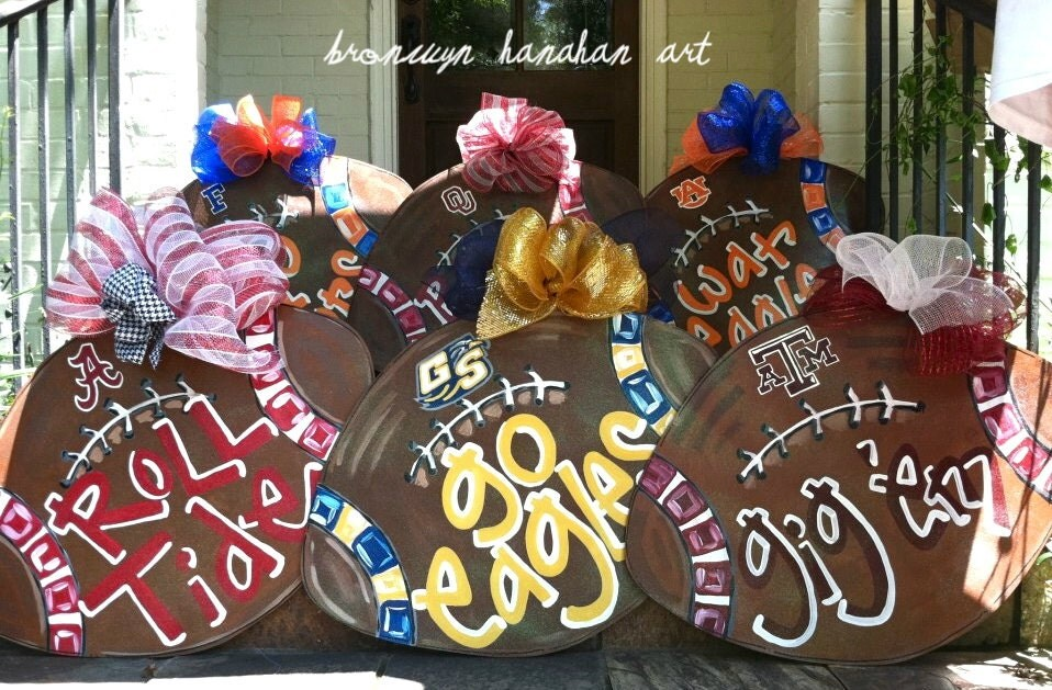 Custom Football Door Hanger - Bronwyn Hanahan Original