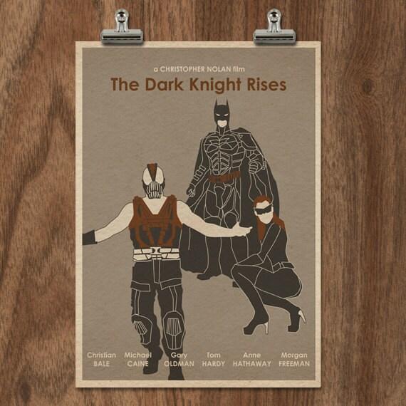 The Dark Knight Rises 16x12 Batman Movie Poster Print