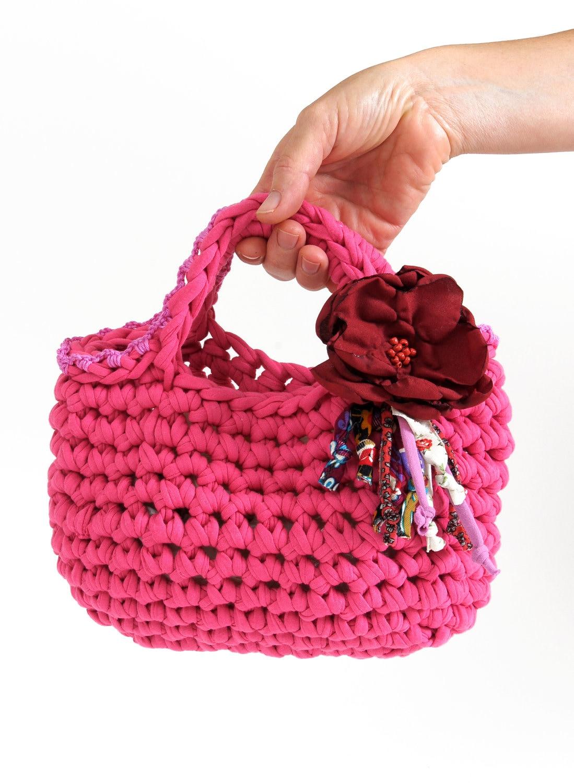 Small handbag for small hands ... Eco friendly clutch ...