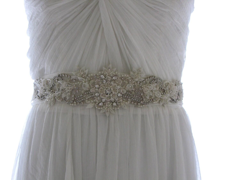 Jewelled bridal belt or crystal sash - Adorable