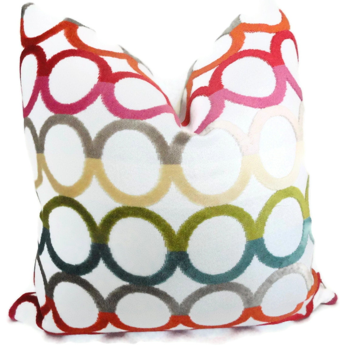 Jonathan Adler Multicolor Ringleader Decorative Pillow Cover, Accent Pillow, Throw Pillow, Pillow Cover