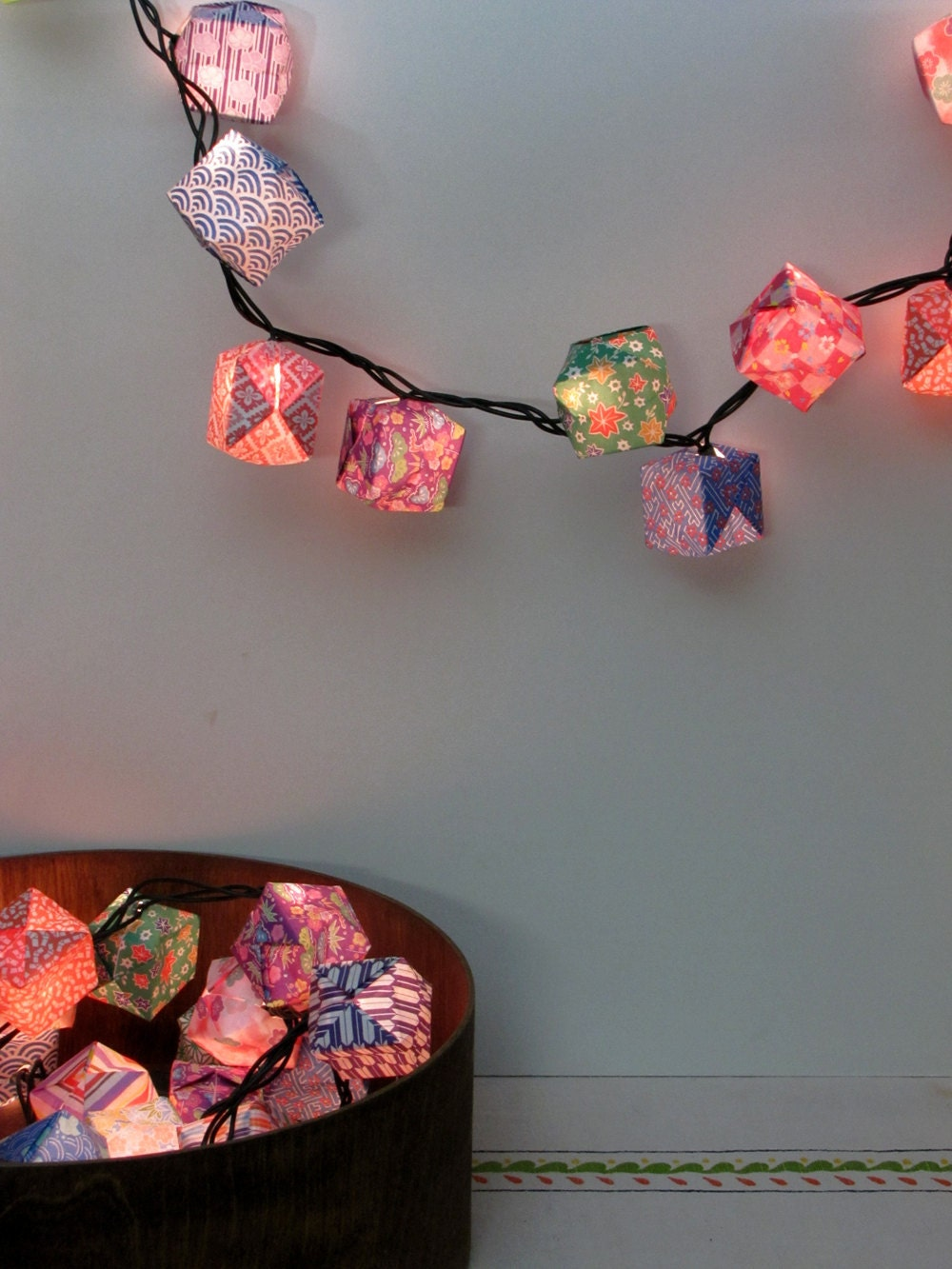 50-Origami Paper Lanterns - Assorted Patterns