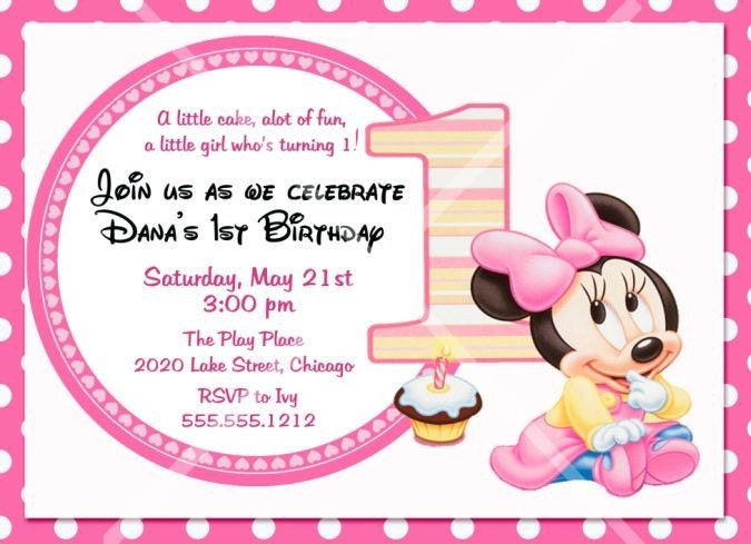Minnie Mouse Birthday Wallpaper Png 1
