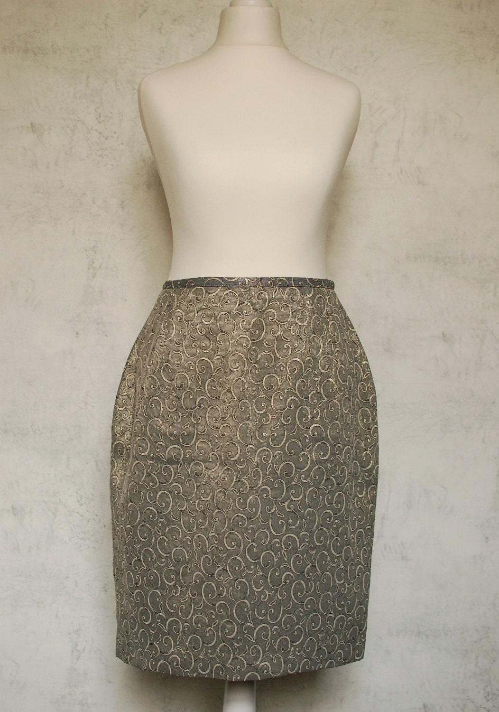 VTG 80s gold/bronze skirt - Silkheaven