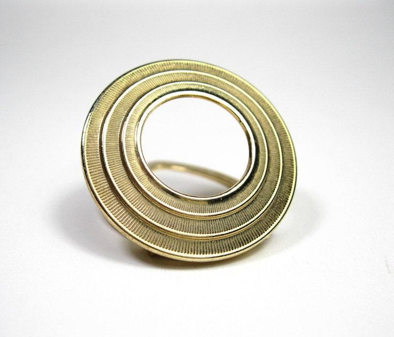 Vintage, Lieba USA, Gold, Scarf Clip, Brooch