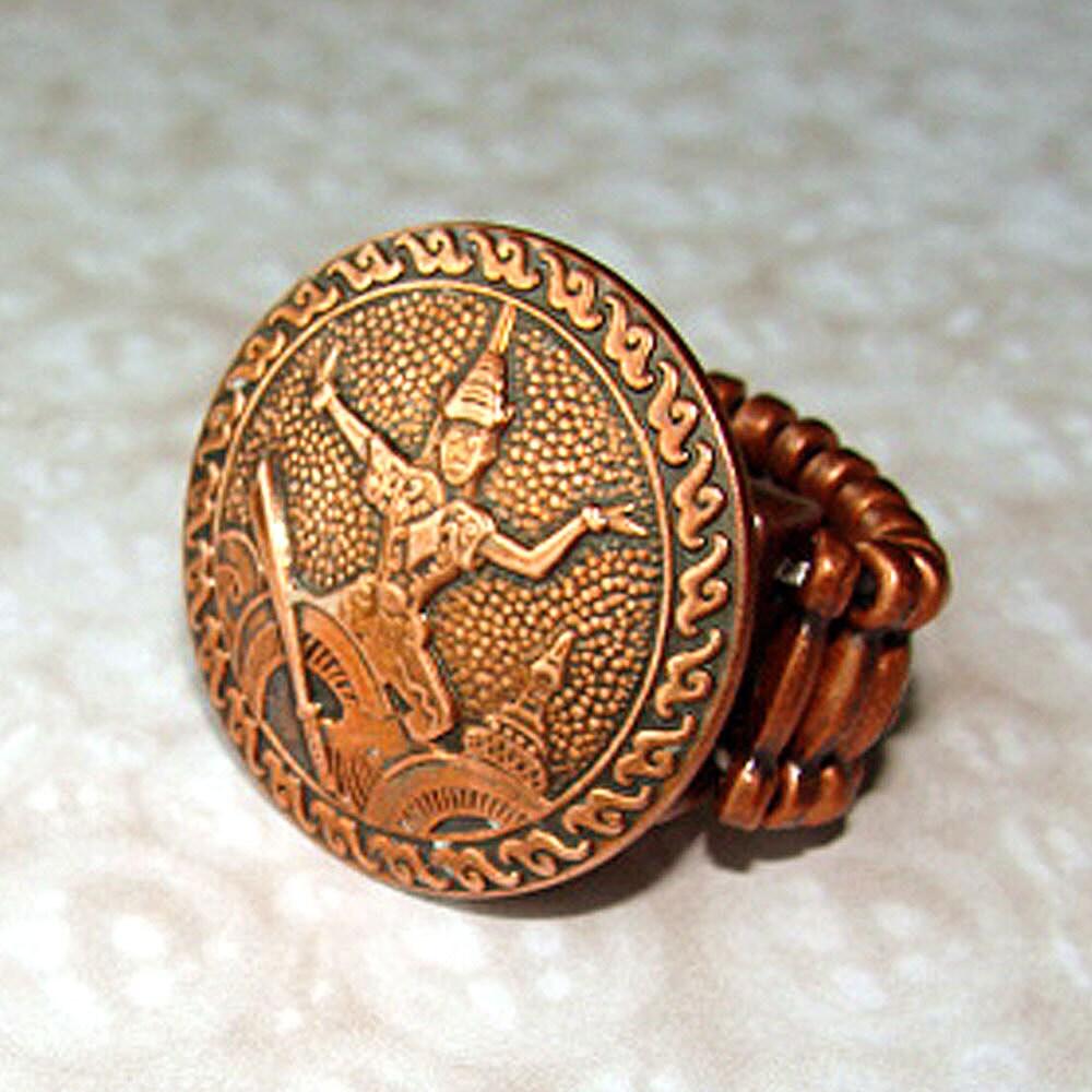 Vintage Temple Dancer Copper Cufflink Expansion Ring - Smoochys