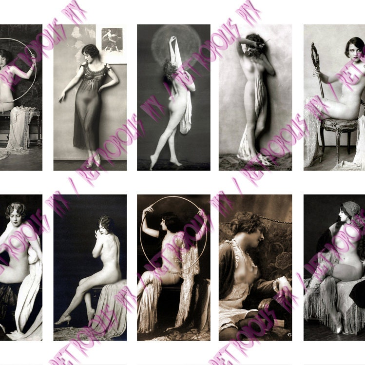 Mature - Artistic Nudes - Victorian Girls Photos Digital Collage Sheet - 1x2 ...