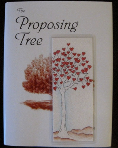 Handmade Original Pen & Ink Artwork, One of a Kind Tree of Hearts Bookmark, Valentine's Day Gift