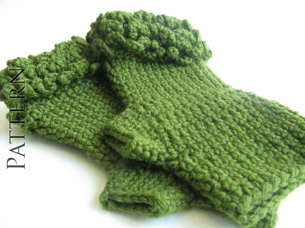 Crochet Fingerless Wrist Warmers - PATTERN