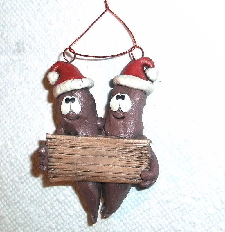 Christmas Poop Couple Ornament Personalized