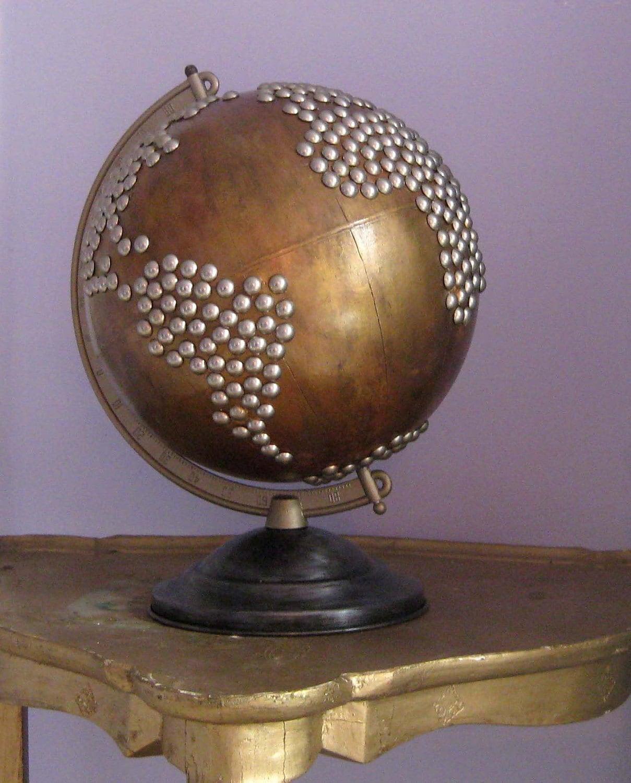 Vintage Nailhead Golden Globe