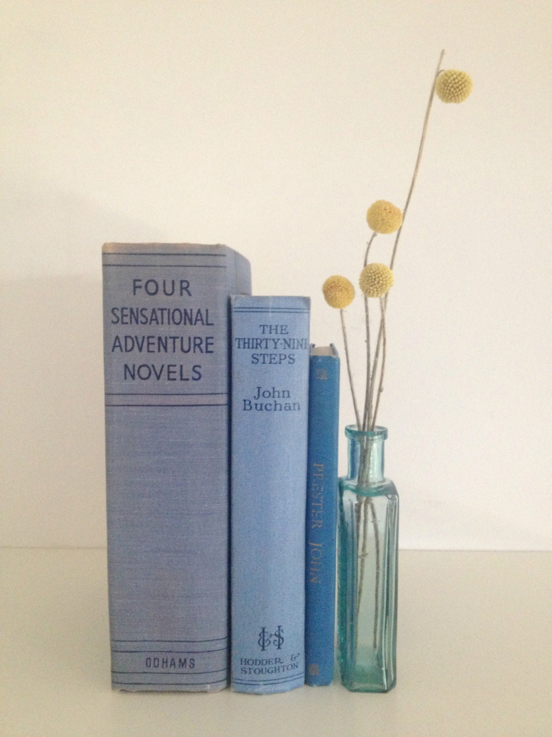 vintage hardcover light blue/grey book collection - rosyrandom