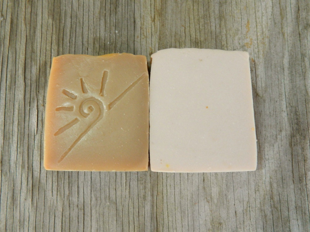 Two Vanilla Soaps / Cold Process Soap / Scented Soap Sampler / Valentines Day Set