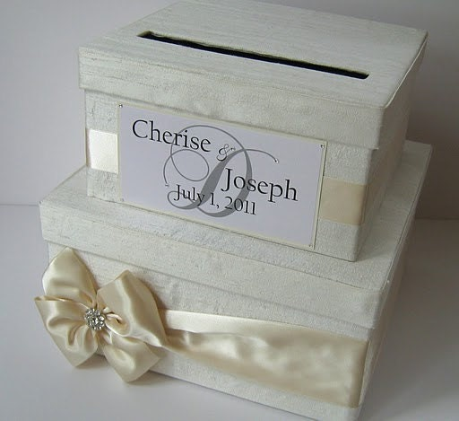 Wedding Card Box Money Box Card Holder Custom Made to Order Made with