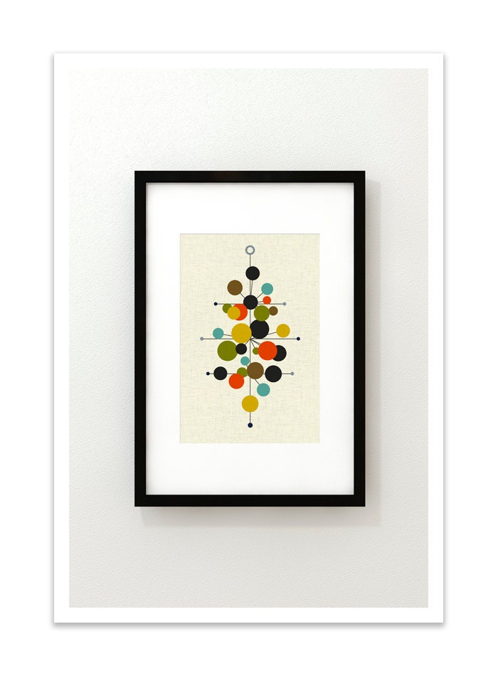 RADIATE - Giclee Print - Mid Century Modern Danish Modern Minimalist Cubist Modernist Abstract Eames - Thedor