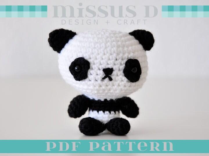 Амигуруми вязание крючком панда 488