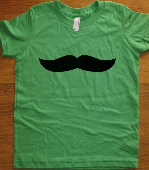 Mustache Shirt / Mustache Tshirt / Moustache Shirt / Moustache Tshirt - 5 Colors - Kids Tshirt Sizes 2T, 4T, 6, 8, 10, 12 - Gift Friendly