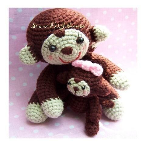 Monkey Amigurumi Pattern - Cute Amigurumi! Janama's Cuddly Crochet