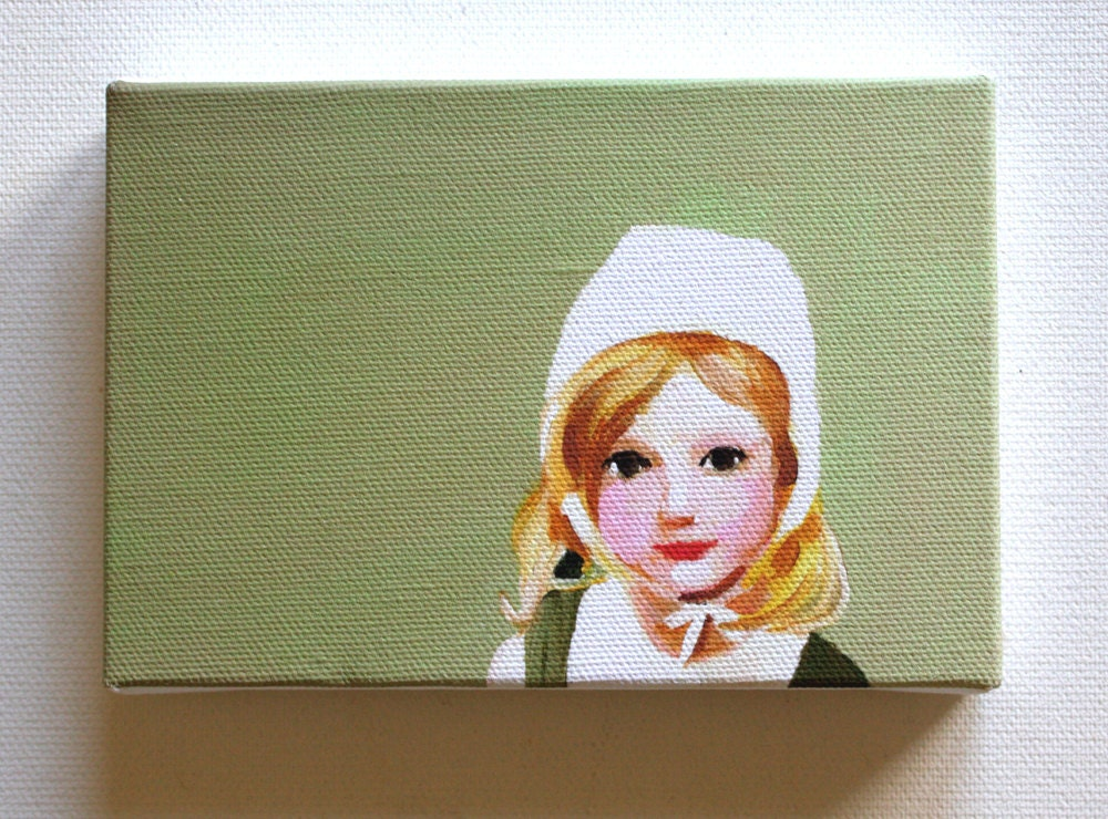 Doll  / tiny canvas  print