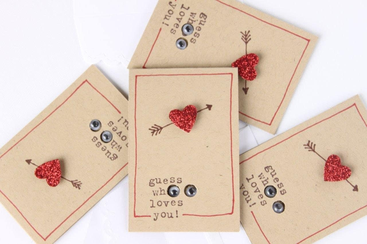 Valentine Cards, Love Cards, Love Notes, Note Cards, Little Surprise Owl Love Notes (4) with envelopes