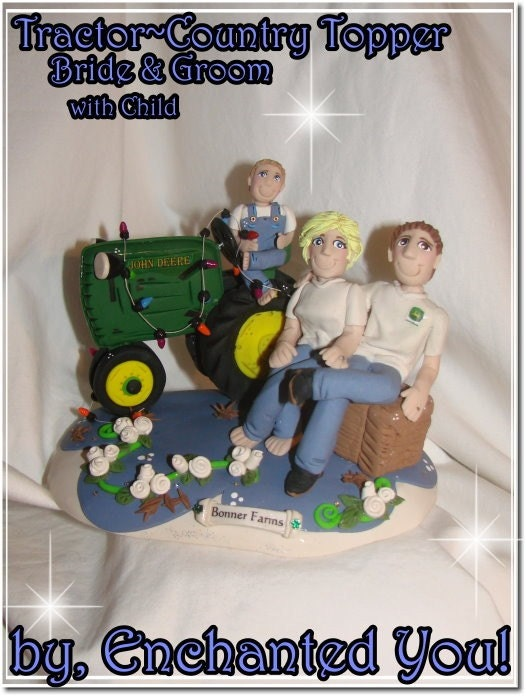 Tractor Country Farm Wedding Cake Topper From EnchantedYou54449
