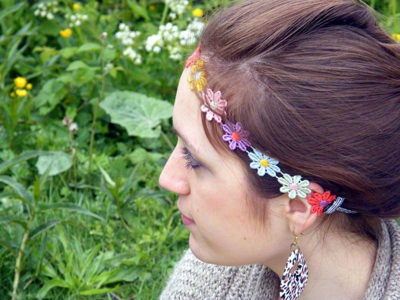 Colourful Daisy Chain Headband