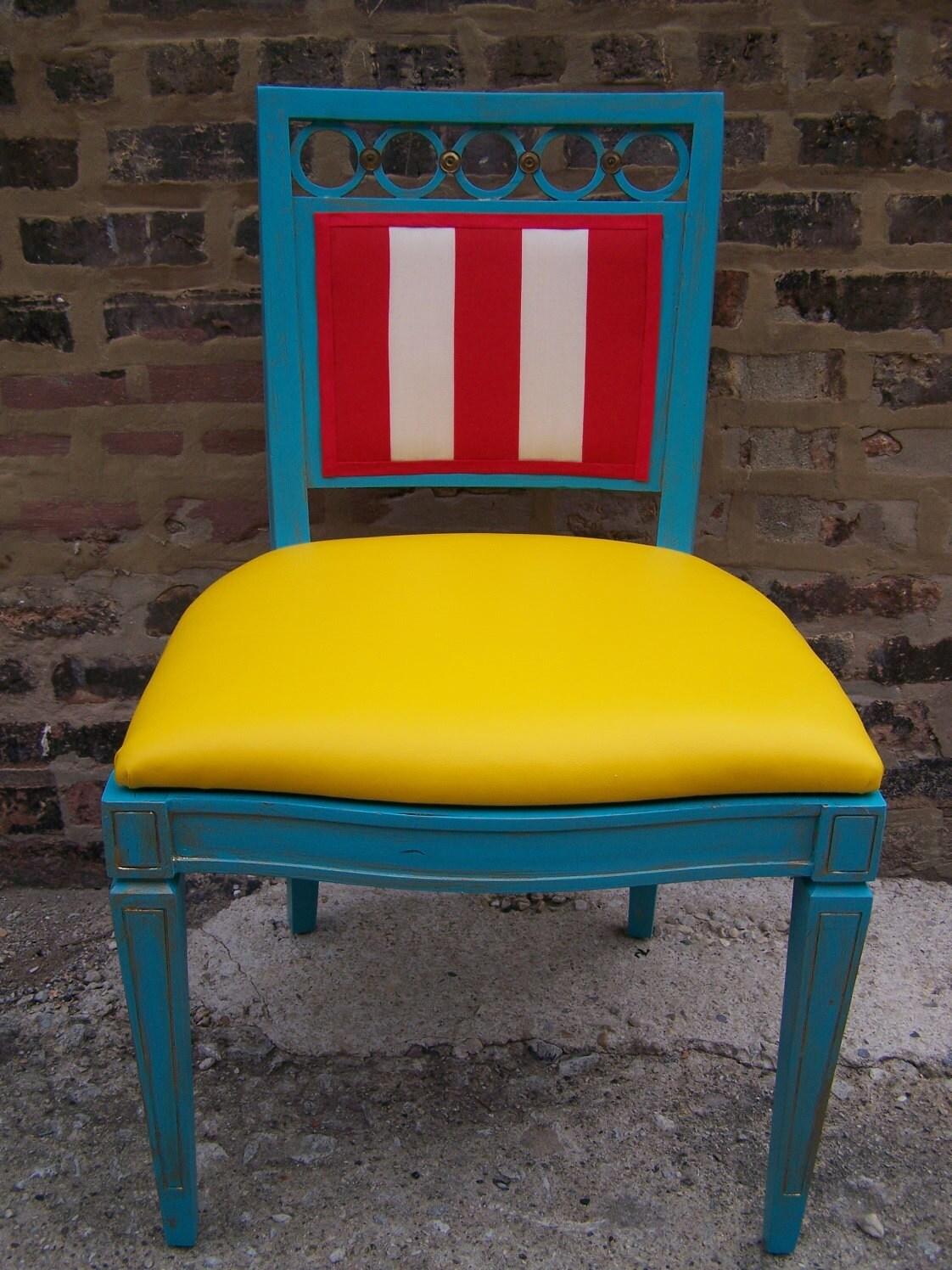 Under the Big Top - Pair of Vintage Refurbished Chairs