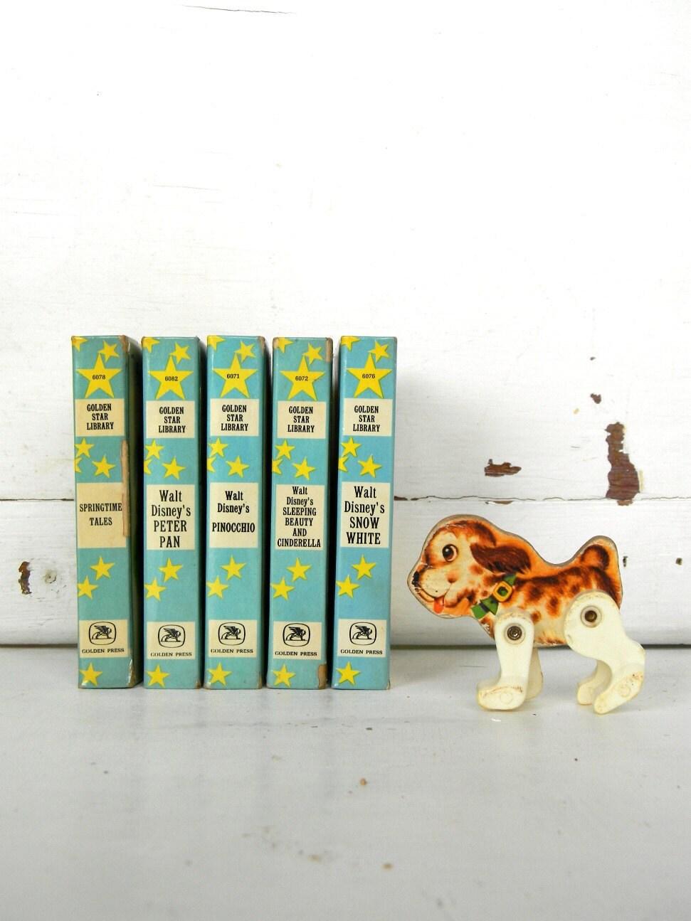 set of 5 vintage golden star library books - noodleandlouvintage