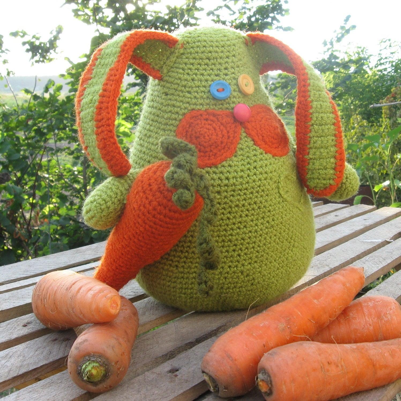Ручной кролик крючком Морковь поклонника