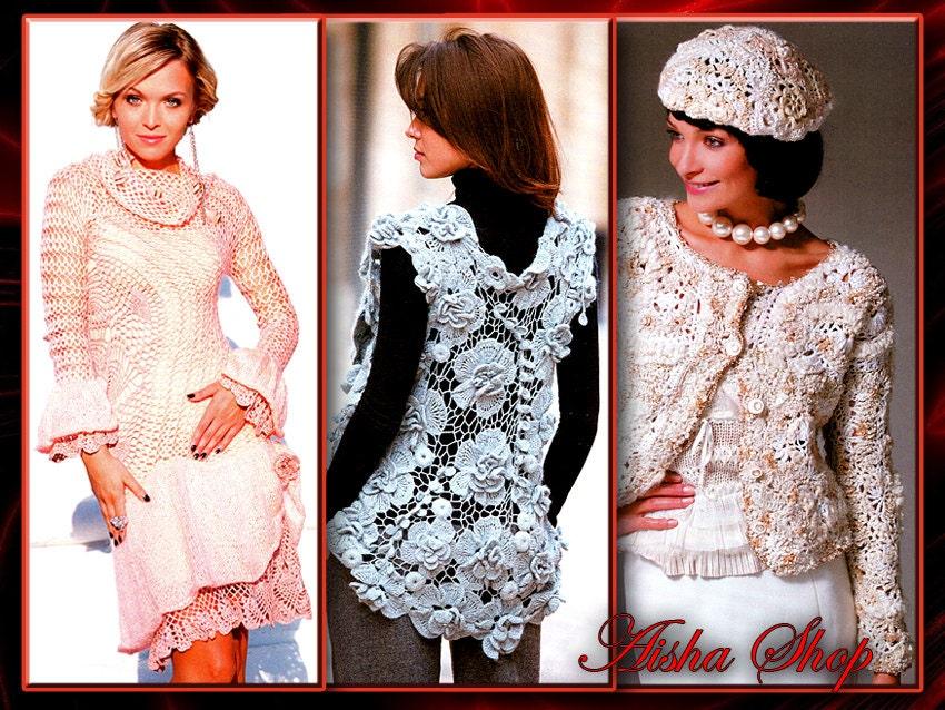 Modele të fustaneve shum të bukur te punuara me grep.