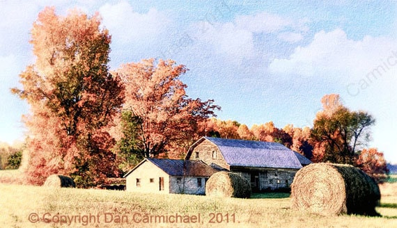 Autumn Farm I - North Carolina Mountains - OriginalArtPrints