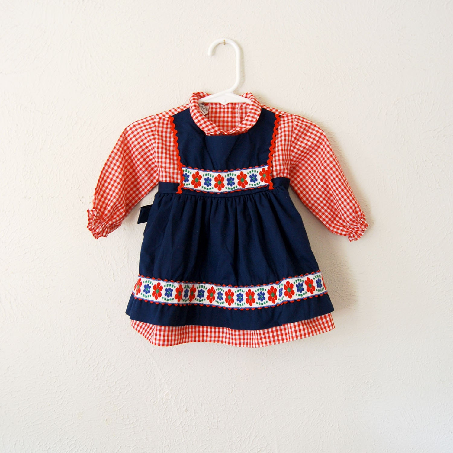 vintage baby girl swiss dress for the mountains - olliesvintage