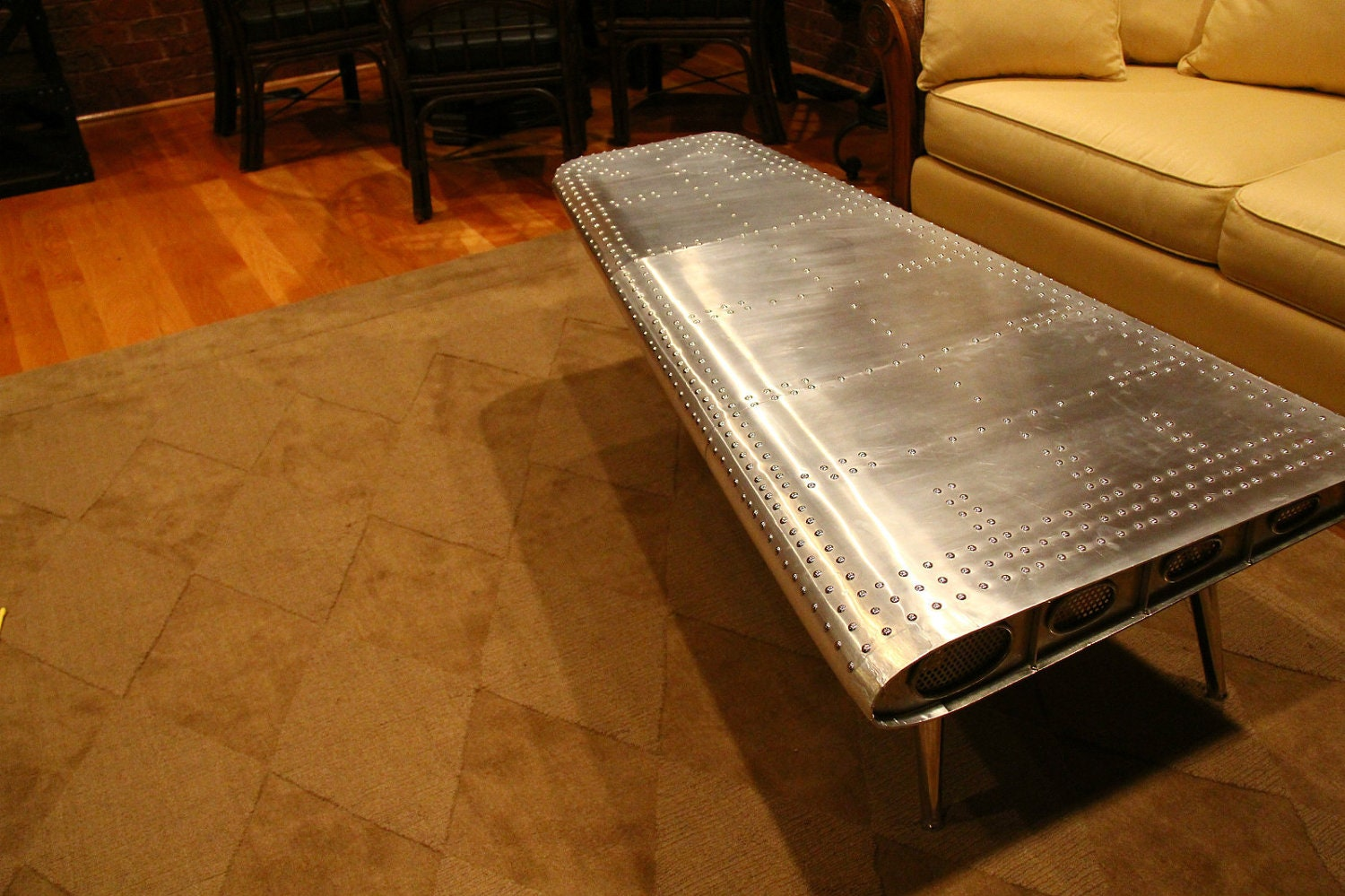 Airplane Wing Coffee Table Comfortable Furniture Wing Coffee Table