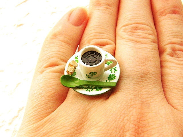 Kawaii Сахар Чай кольцо