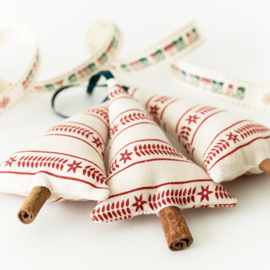 Примитивные украшения рождественской елки висячие украшения скандинавского набор полос из 3