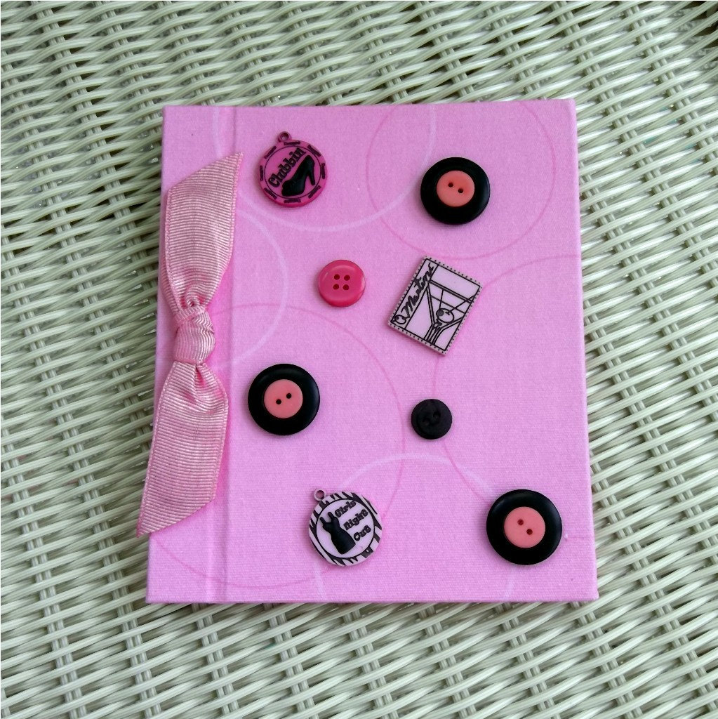 Photo Album Pink Buttons, Girls Night Out, Party