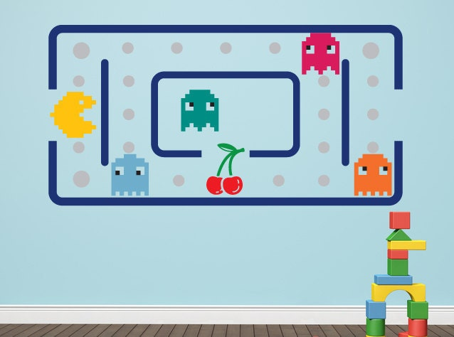 Retro Pac Man Vinyl Wall Decal