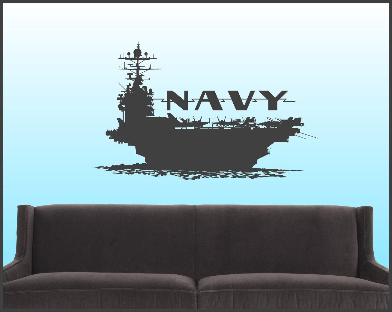 NAVAL CARRIER - Vinyl Wall Art Decal - DesignSPLASH