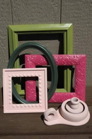 Picture Frame Collection -- Preppy Pinks and Greens