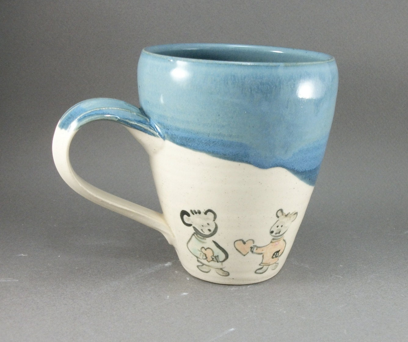 teddy bears and hearts mug