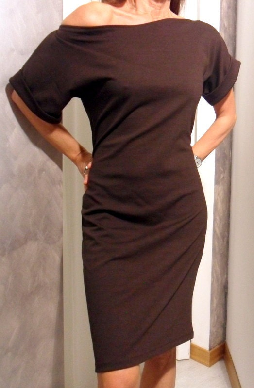 Sheath dress in stretch jersey