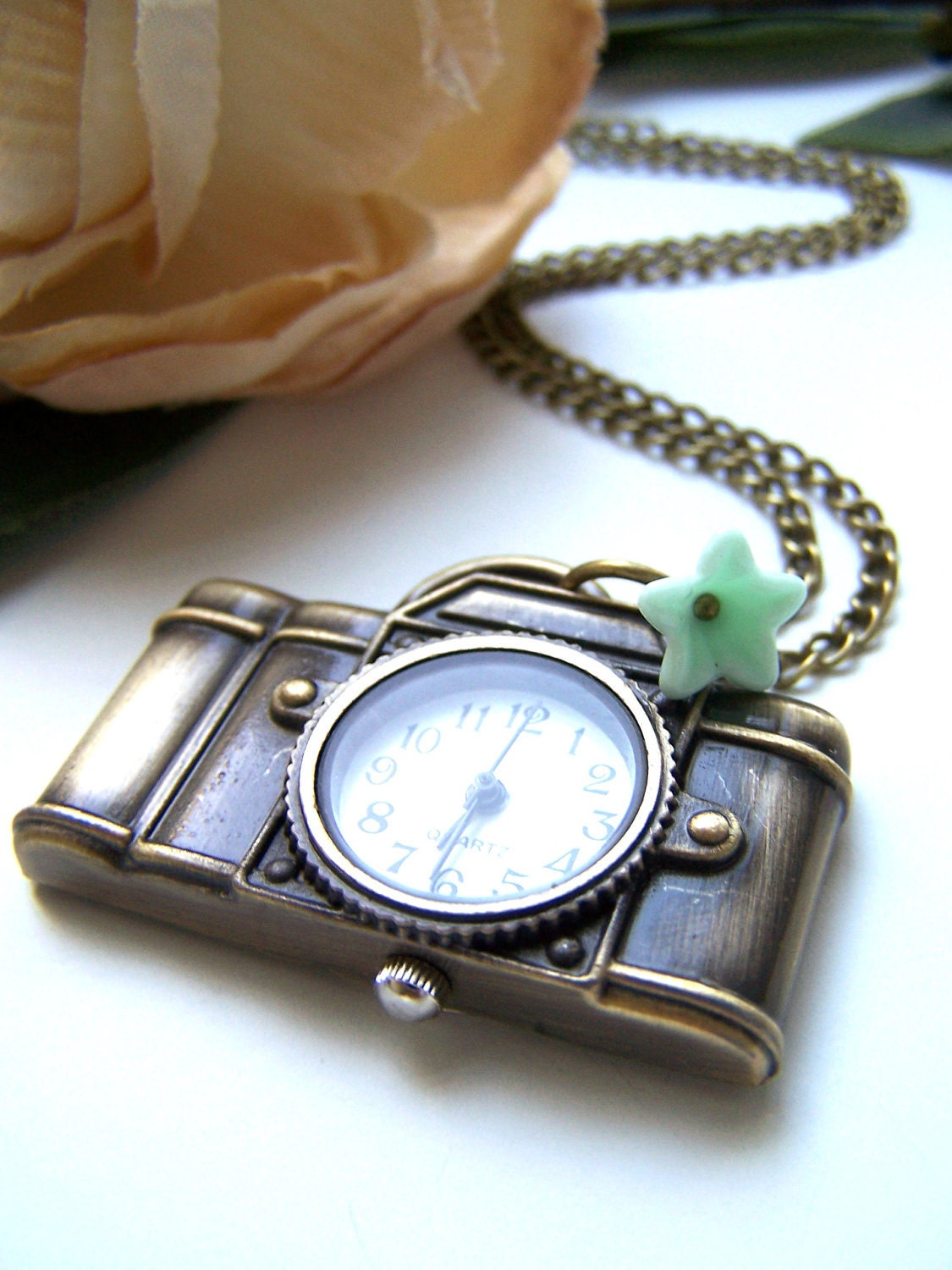 the camera pocket watch (necklace).