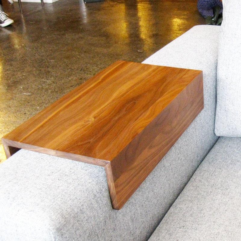Couch Arm Wrap - mesa SOLID WOOD costume braço bebida resto laptop para o sofá braço reto
