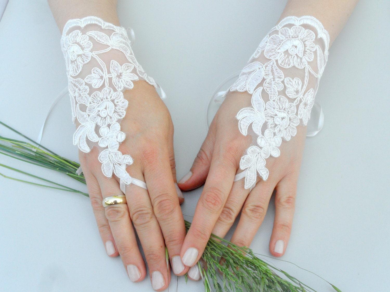 Свадебные перчатки своими руками фото